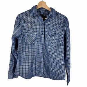 Roper button down blue with gold- size M